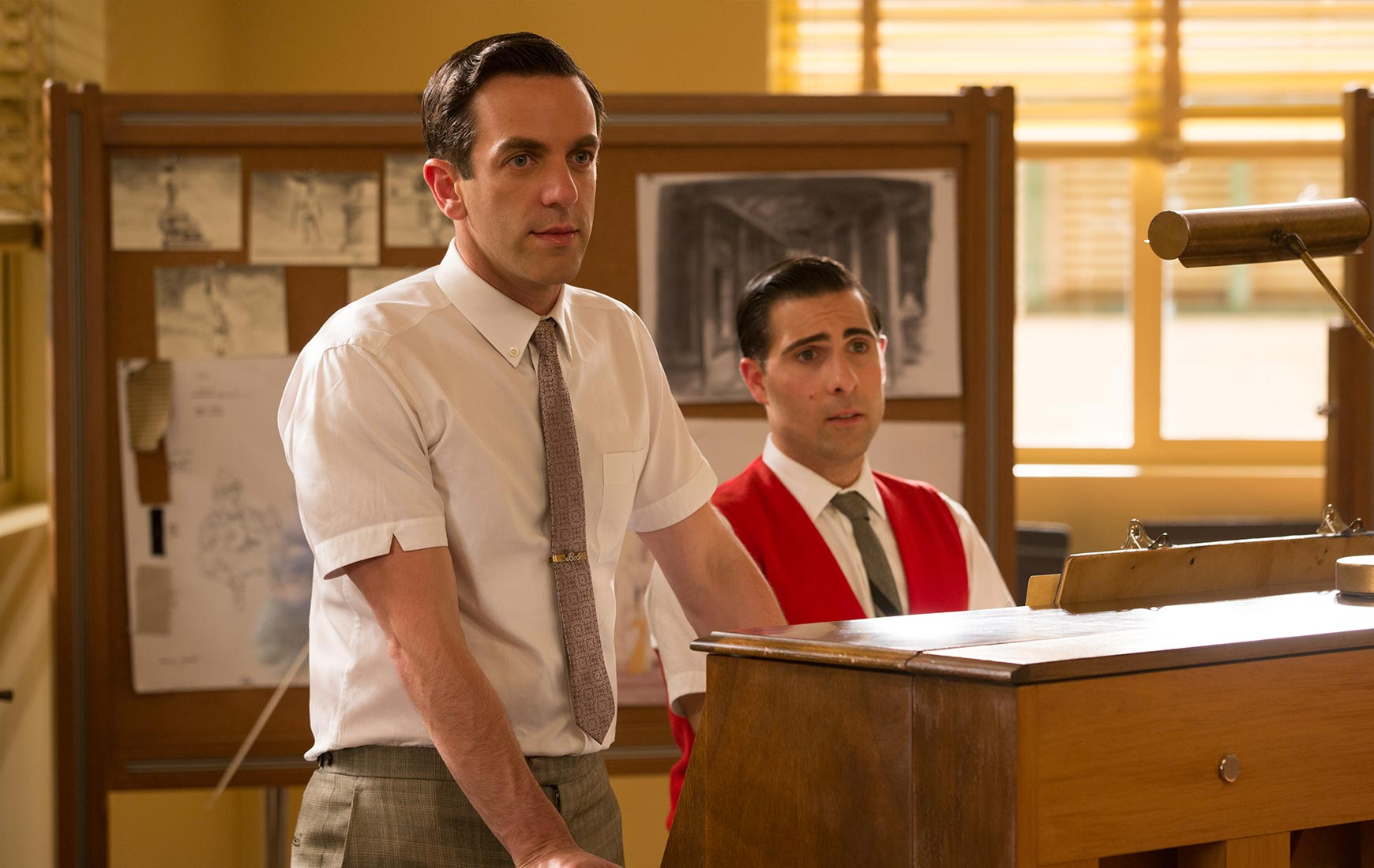 BJ Novak and Jason Schwartzman play a pair of songwriting brothers.